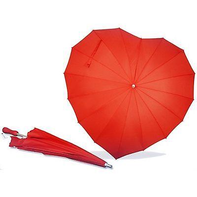 AoGV Forever Love Parasol Red Heart Shaped Girls Umbrella