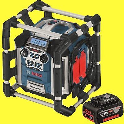 BOSCH Akku-Baustellen-Radio GML 50 Radiolader + 1x Akku 18 Volt 6,0Ah