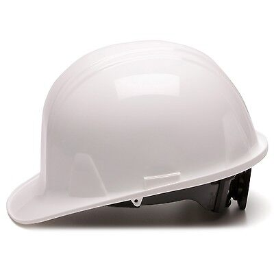 Pyramex Cap Style Hard Hat With 6 Point Ratchet Suspension White