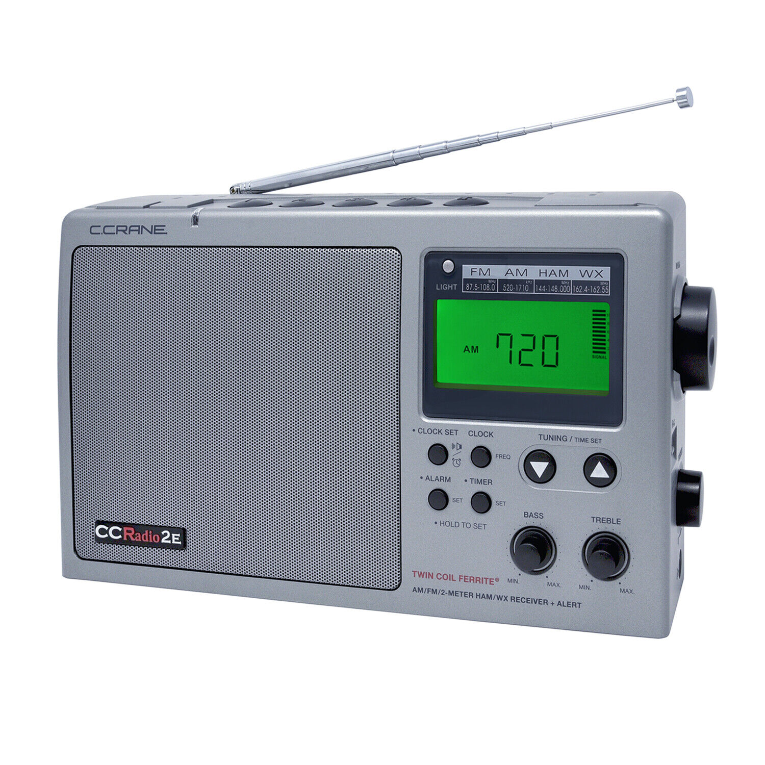 C. Crane CC Radio-2E Enhanced Portable AM FM Weather and 2-M