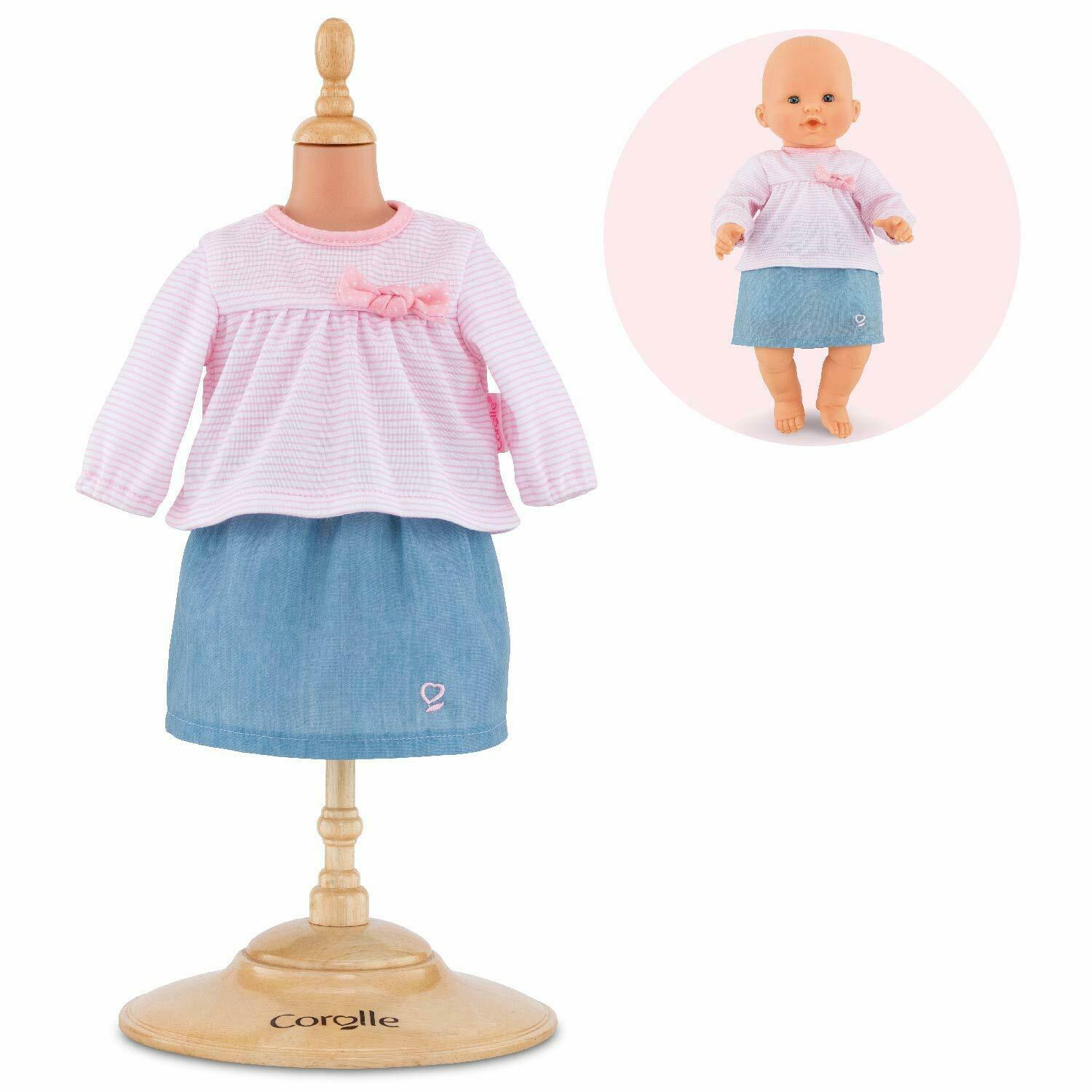 Corolle - Top & Skirt - Baby Doll Outfit - Clothing Accessor