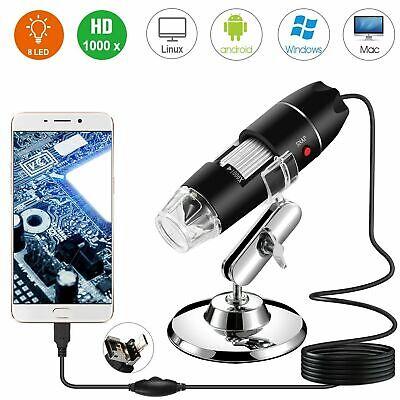 40x-1000x 8 Led Digital Microscope Camera Handheld Usb Magnification Endoscope