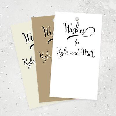 50 Wedding Wish Tags, Personalized Wedding Advice Tags, Wishing Tree - Wedding Wish Tree