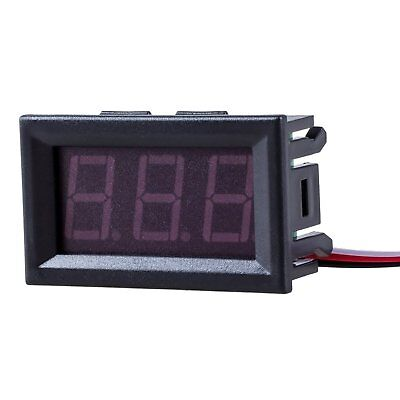 Mini Voltmeter Tester Digital Voltage Test Battery Dc 0-30v Red Auto Car