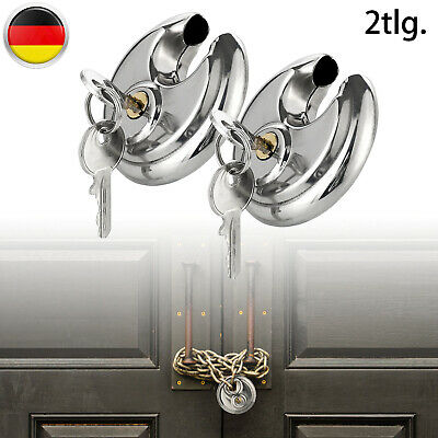 2/6/10 X Vorhängeschloss  Diskusschloss Edelstahl Schloss Silber