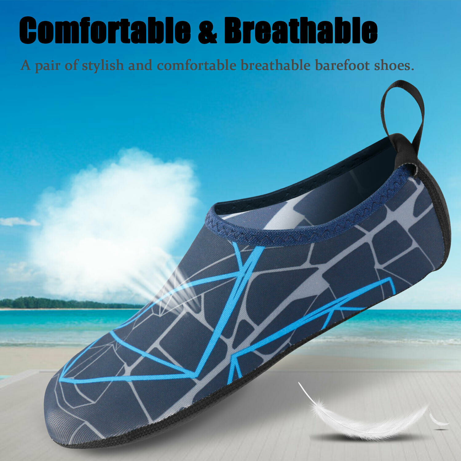 Men Women Water Shoes Barefoot Socks Quick-Dry Beach Swim Surfing Yoga Exercise Athletic Shoes