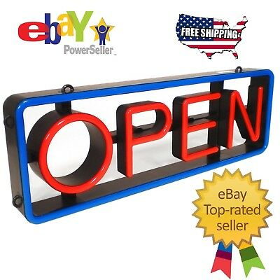 Mystiglo Led Swivel Open Sign Restaurant Retail Window Business Sign With Remote