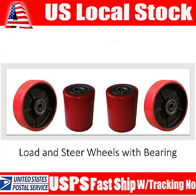 Eoslift Pallet Truckjack Pu Loading Steering Wheels W Bearing Replacement Usa