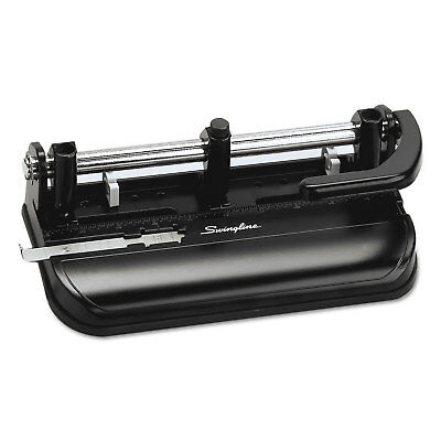 Swingline 32-sheet Lever Handle Two-to-seven-hole Punch 932 Holes Black 74350