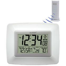 WS-8119U-IT-W La Crosse Technology Atomic Digital Wall Clock Temp TX38U-IT-N