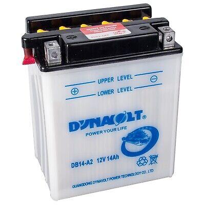 Dynavolt Motorradbatterie DB14-A2 51412 12V 14Ah YB14-A2 inkl. Säurepack 12v 14ah Batterie