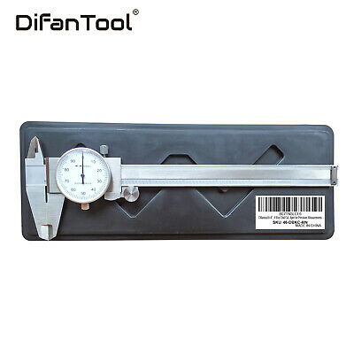 0- 6 4 Way Dial Caliper .001 Shock Proof Stainless Hardened Plastic Case