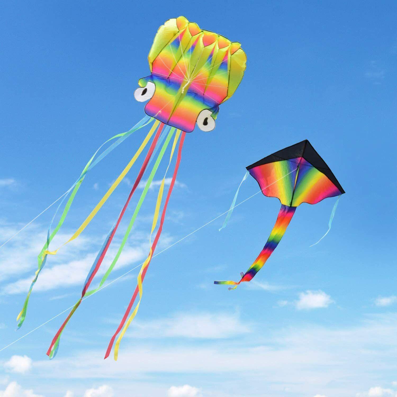 2 pack kites kit 5m large octopus