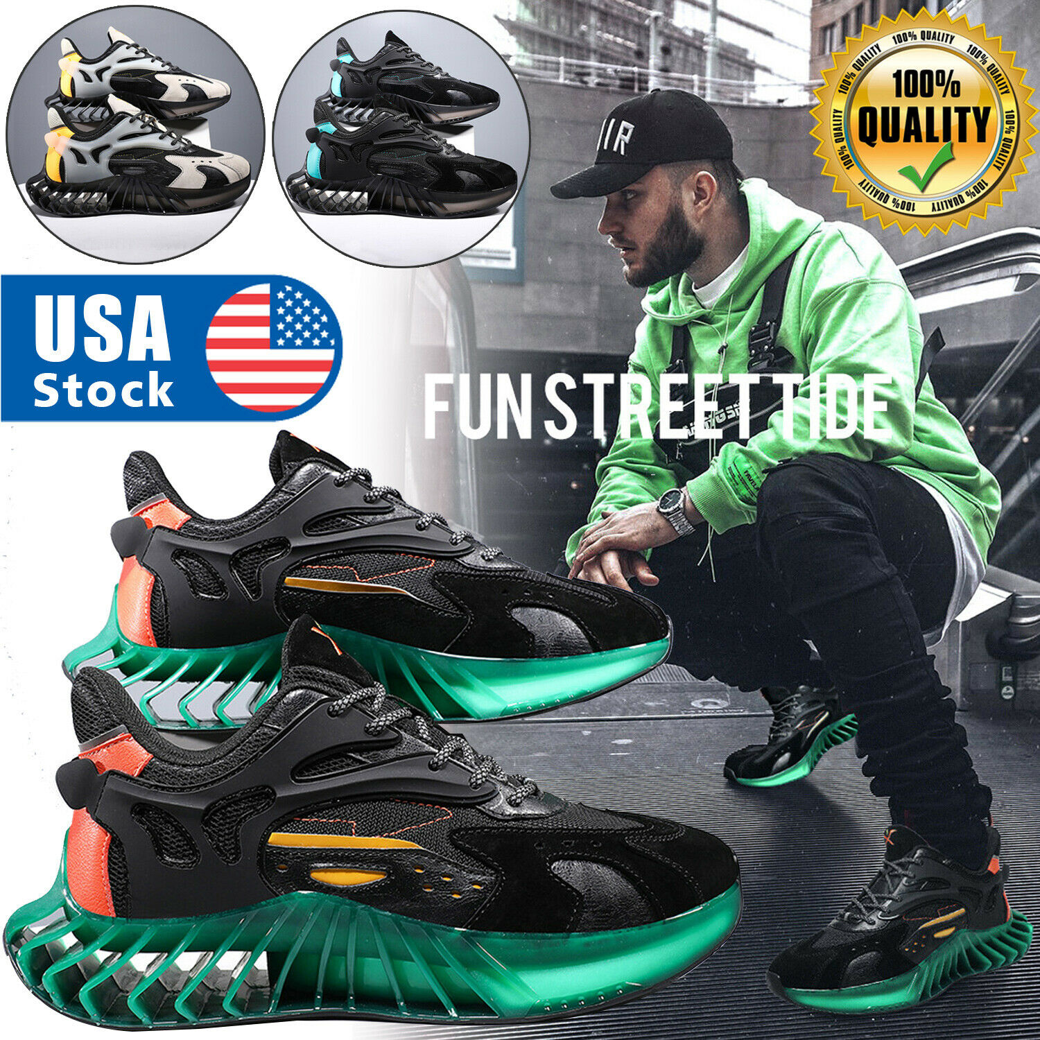 US Men's Casual Athletic Jogging Sneakers Outdoor Spots Running Tennis Gym Shoes Athletic Shoes