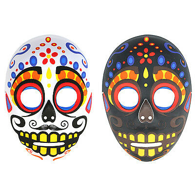 Mens Day Of The Dead Mexican Sugar Skull Halloween Mask. Zombie Cosplay Costume (Day Of The Dead Zombie Halloween Mask)