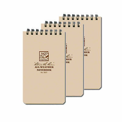 Rite In The Rain 935t 3-pack Shirt Pocket Tactical Spiral Notebook