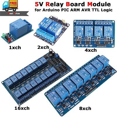 5v Relay Module Board 1 2 4 6 8 Channel Optocoupler Led For Arduino Arm Avr Pic