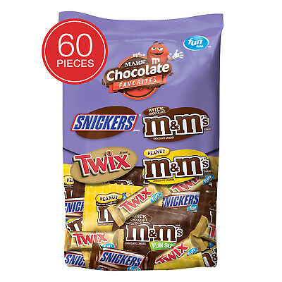 MARS CHOCOLATE FUN SIZE HALLOWEEN CANDY VARIETY MIX 33.9oz -60CT - Mars Halloween Fun Size