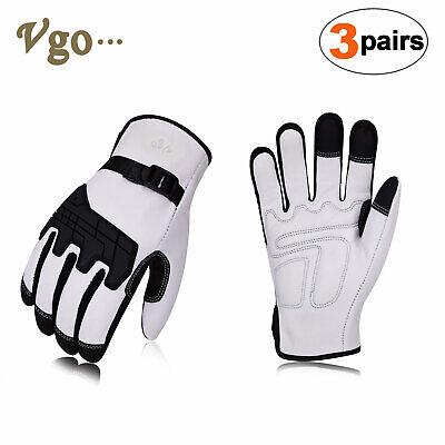 Vgo 1pair3pairs Premium Goat Leather Work Gloves Size Lwhitega1012