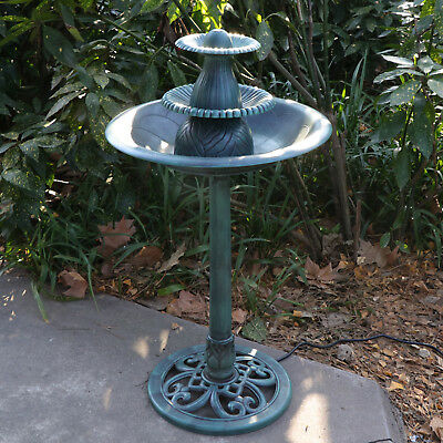 - Antique 3 Tier  Fountain Bird Bath With Pump Water  Ornament Garden Yard Outdoor