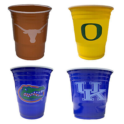 Logo Plastic Cups (NEW Licensed NCAA League Team Logo Party/Game Day Plastic Cups - Pick A Team )