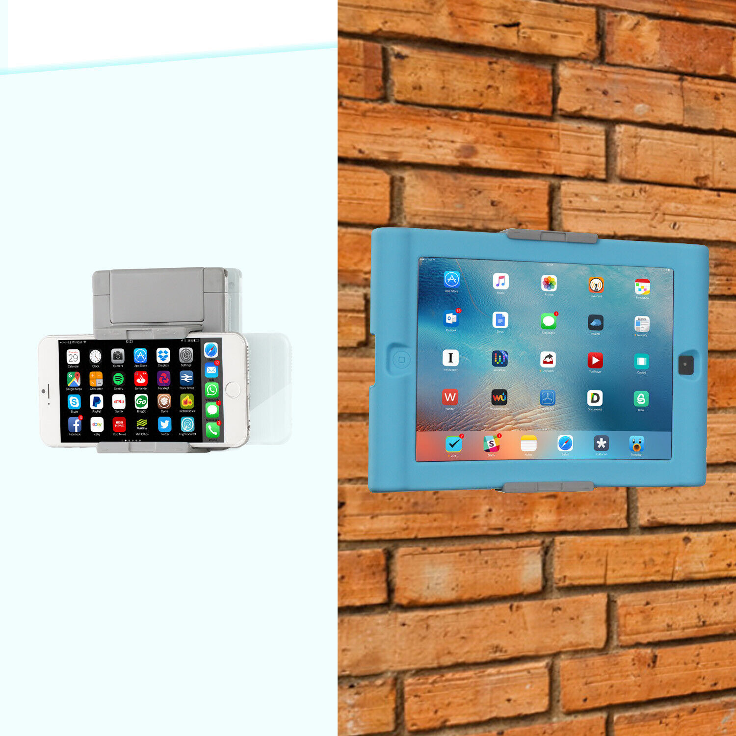 phones and tablets wall mount holder fit