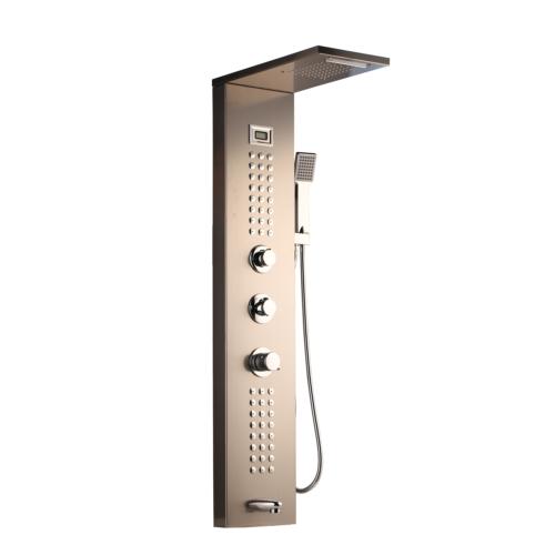 Rose Gold Shower Panel Shower System Rainfall/&Waterfall Massage Body Jets