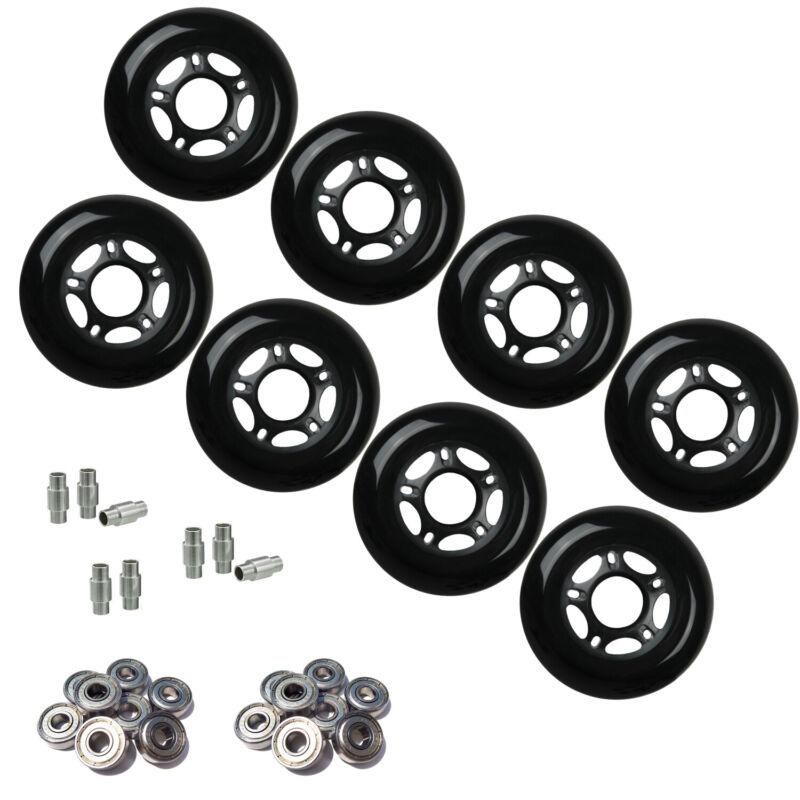 Outdoor Rollerblade Inline Hockey Fitness Skate Wheels 80mm 82A Bearings Spacers