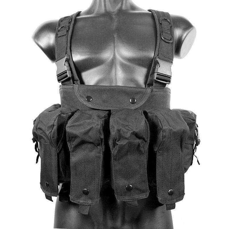MetalTac Airsoft Vest Chest Rig Black Integrated Tactical