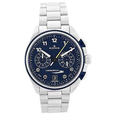 NEW Edox Chronorally-S Men's Chronograph Watch - 09503 3BUM BUBG