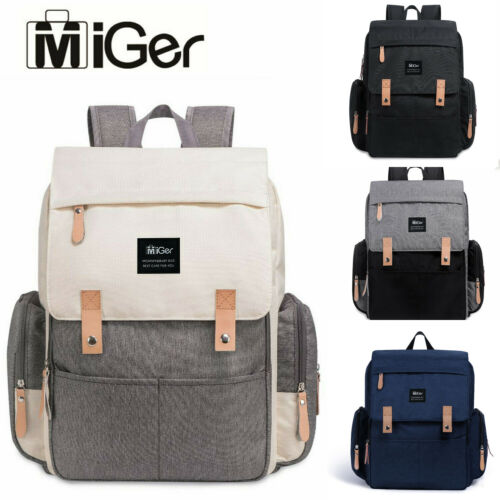 Miger Mummy Diaper Bags Baby Nappy Backpack Large Capacity Maternity Nursing US Baby