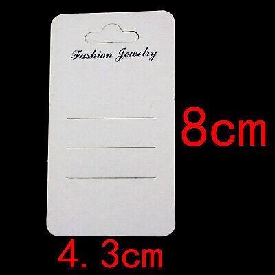 100pcs White Ear Hooks Earring Stud Display Cards Jewelry 4.3cmx8cm Jewelry Card