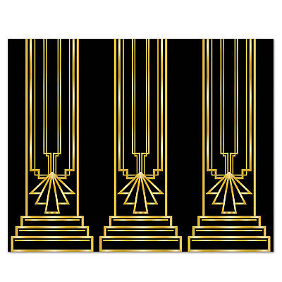 Art Deco Backdrop (Art Deco GREAT GATSBY 20s COLUMN BACKDROP Party Decoration PHOTO PROP Mural)