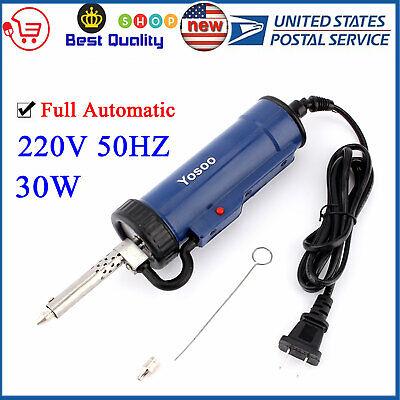 Electric Strong Solder Sucker Desoldering Vacuum Pump Removal Gun Repair Tool Us