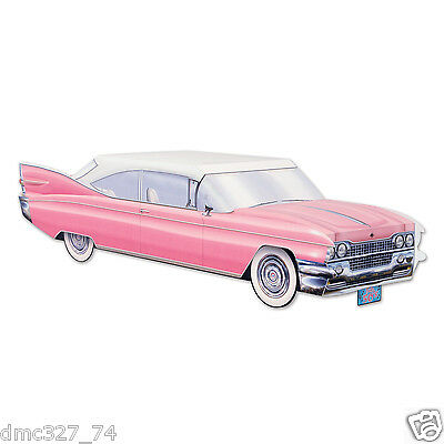 50s Grease Sock Hop Party Decoration PINK Cruisin Car Cadillac CENTERPIECE