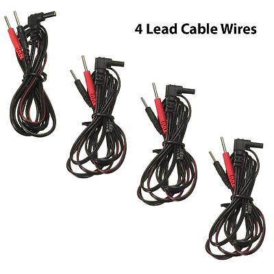 VeniCare 4pcs Tens Unit Lead Wires for Intensity 10 Tens 2500 3000 EMS
