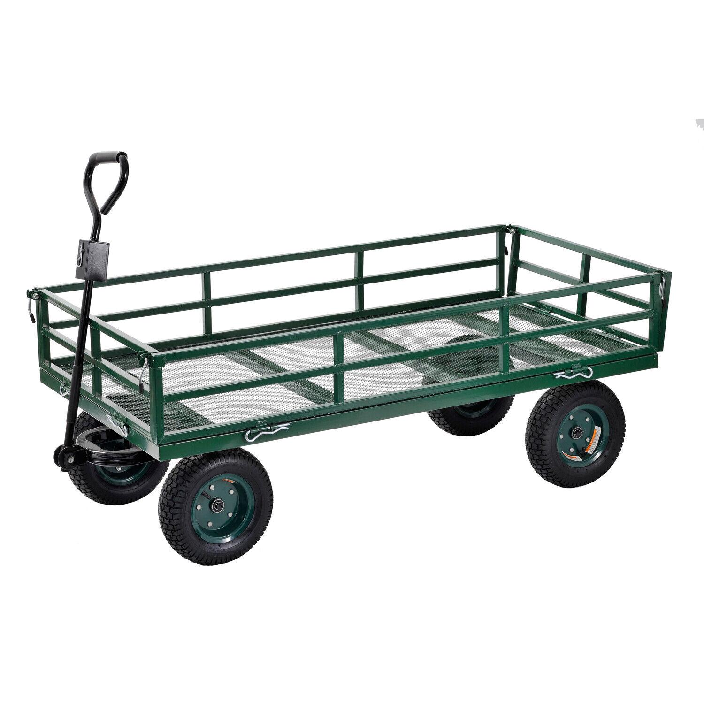 Crate Wagon Heavy Duty Jumbo Utility Wheelbarrow Yard Rover