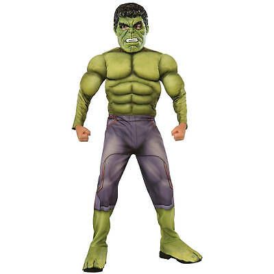 Avengers Age Of Ultron Incredible HULK Deluxe Boys Costume Size L 10-12 NWT - Hulk Boys Costume