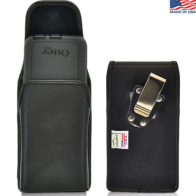 Turtleback HTC One M9 Leather Pouch Holster Metal Belt Clip Fits Lifeproof Case ()