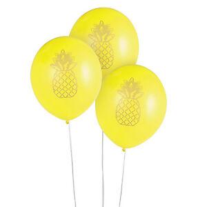 24 Pineapple Fruit Design Latex Balloons Birthday Tropical Luau Hawaiian Party