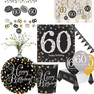 60. Geburtstag Dekoration mit Zahl 60 Deko runder Geburtstag Party Tischdeko
