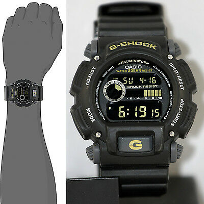G-shock Stopwatch - Casio DW9052-1C Mens G-SHOCK Digital Sports Watch 200M Stopwatch Multi Alarm