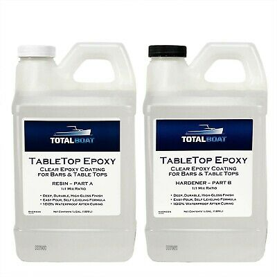 TotalBoat - Epoxy Resin Crystal Clear - 1 Gallon Epoxy Resin & Hardener Kit f...