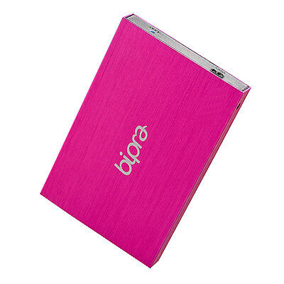 Bipra 400GB 2.5 inch USB 3.0 Mac Edition Slim External Hard Drive - Pink 400gb Usb External Hard Drive