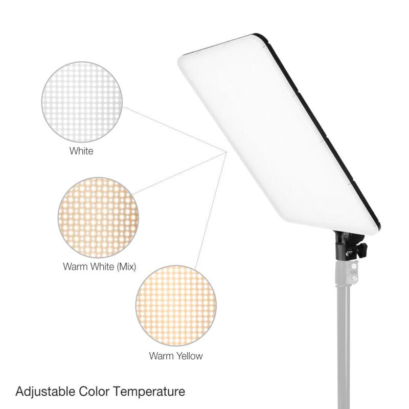 "2PC Photo Studio Dimmable Dual-Color Temperature Photo Light Panel 10"" x 14"""