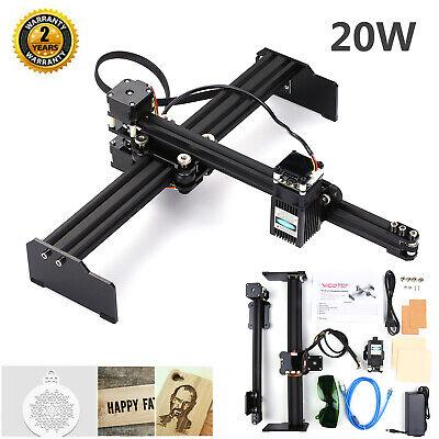 Bx20 20w Laser Engraving Cutter Machine Engraver Printer Art Craft Diy Vg-l7 Us