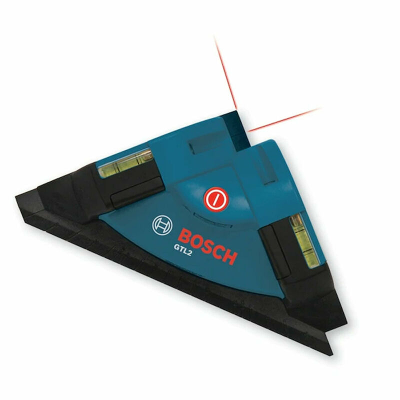 Bosch GTL2 Portable Manual Laser Level Square Angle Tool with Mounting Strips