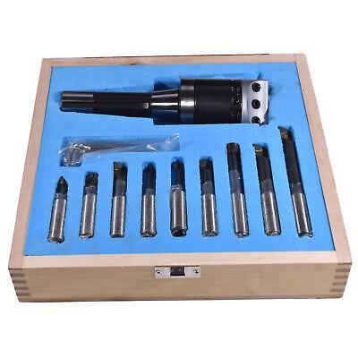 New R8 F1 2 Boring Head Set And 9pcs Carbide Tips Boring Bar Tools