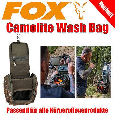 Fox Camolite Wash Bag - Kulturbeutel Waschtasche mit Spiegel Karpfenangeln Carp