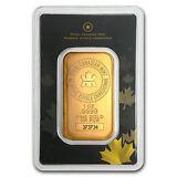 1 oz Royal Canadian Mint RCM Gold Bar - In Assay Card - SKU #72805